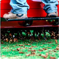 schedule lawn aeration and overseeding services
