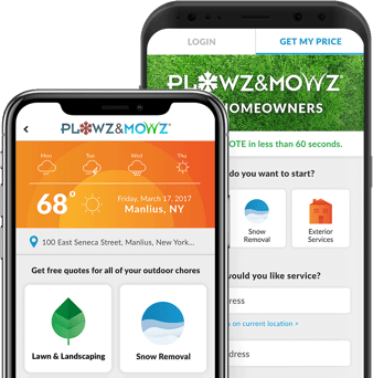 hire local landscaping companies through the plowz and mowz app