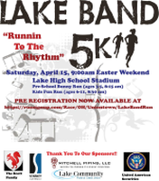 Register for 2019 Lake Band 5K Run & Competitive Walk