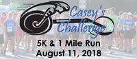 Register for 2019 Casey's Challenge 5K Run/Walk & 1 Mile Fun Run