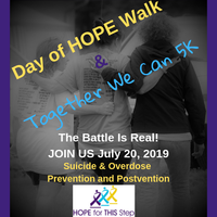 Register for 2019 Day of Hope Walk & Together We Can 5k Race