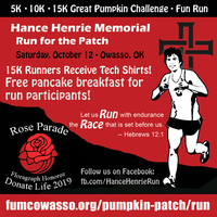 Register for 2020 Hance Henrie Memorial Run for the Patch