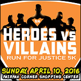 Register for the 2016 Heroes vs Villains Run for Justice 5k