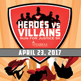 Register for the 2017 Heroes vs Villains Run for Justice 5k