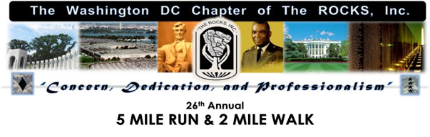 Register for the 2017 The D.C. Chapter of The ROCKS, Inc. 5 Mile Race and 2 Mile Walk