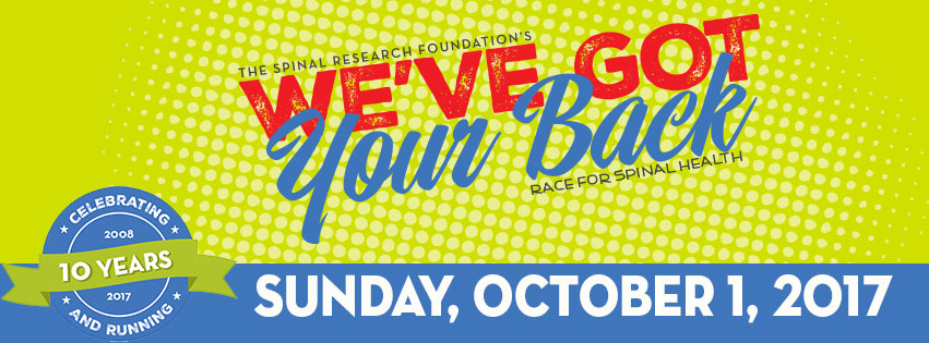 Register for the 10th Annual We've Got Your Back Race for Spinal Health