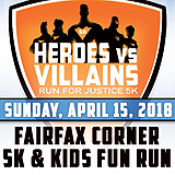 Register for the 2018 Heroes vs Villains Run for Justice 5k