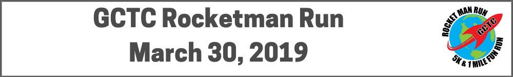 Register for the 2019 GCTC Rocketman Run