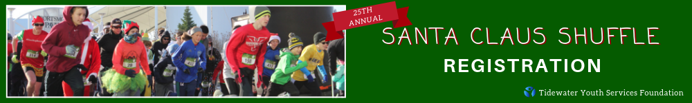 Register for the 2019 Santa Claus Shuffle