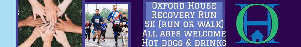 Register for the 2020 Oxford House Recovery Run