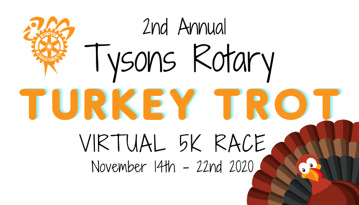 Register for the 2020 Tysons Rotary 5K Turkey Trot