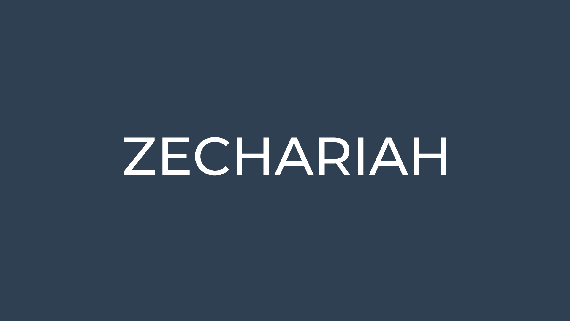 Zechariah Sermon Series