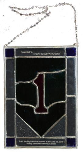 1st Infantry Division Headquarters Stain Glass (750 x 1375)