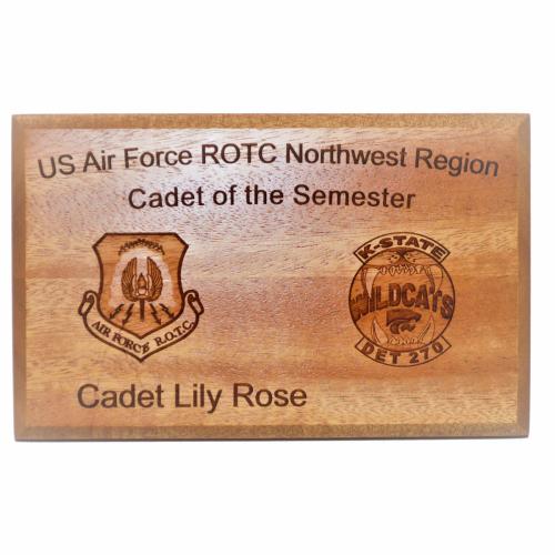 Engraved Image -  Plaque - USAD ROTC