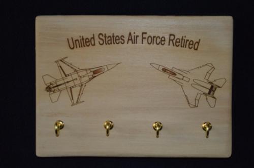 Engraved Image -  Key Holder - United States Air Force