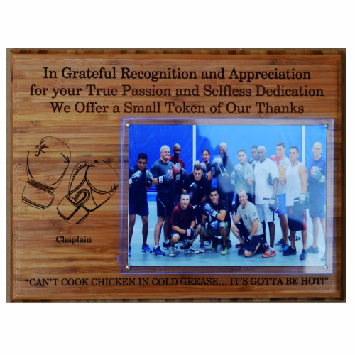 Engraved Image -  Plaque - Boxing Coach