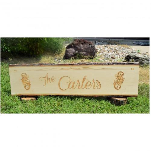 Engraved Image -  Sign - Address Carter E1