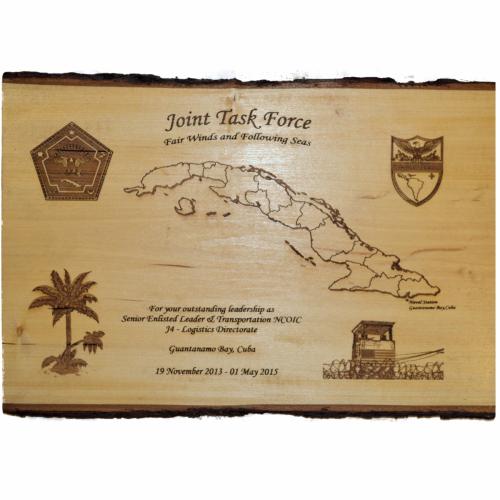 Engraved Image -  Plaque - JTF Basswood 2 Sided Bark