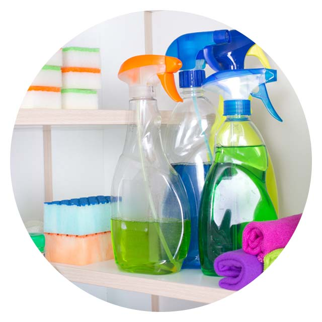 image of household cleaning products