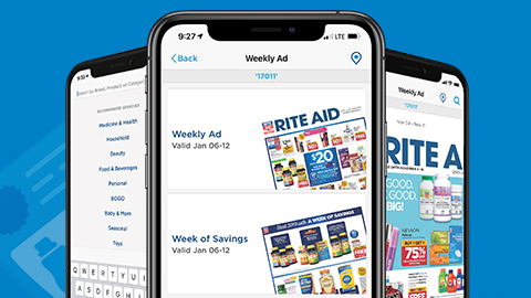 image of {feature} of rite aid mobile app