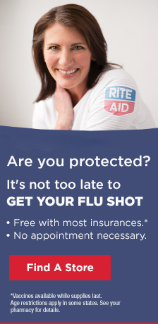 Flu season peaks in January. Are you protected? It's not too late to GET YOUR FLU SHOT Free with most insurance No appointment necessary Find a Store Vaccines available while supplies last. Age restrictions apply in some states. See your pharmacy for details.