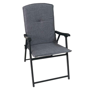 Image of gray folded chair