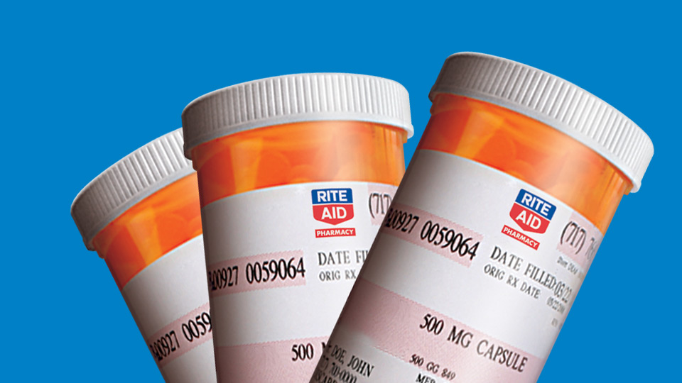 image of rite aid pill bottles