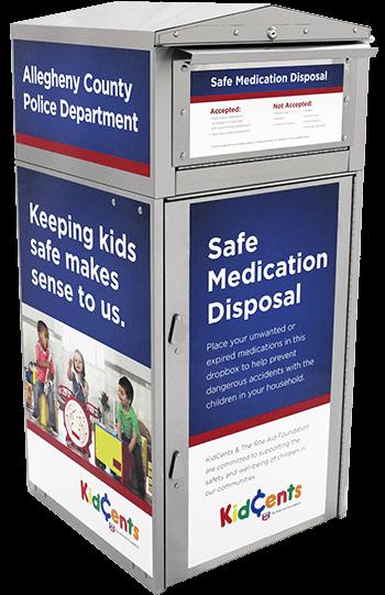 kidcents drug disposal box