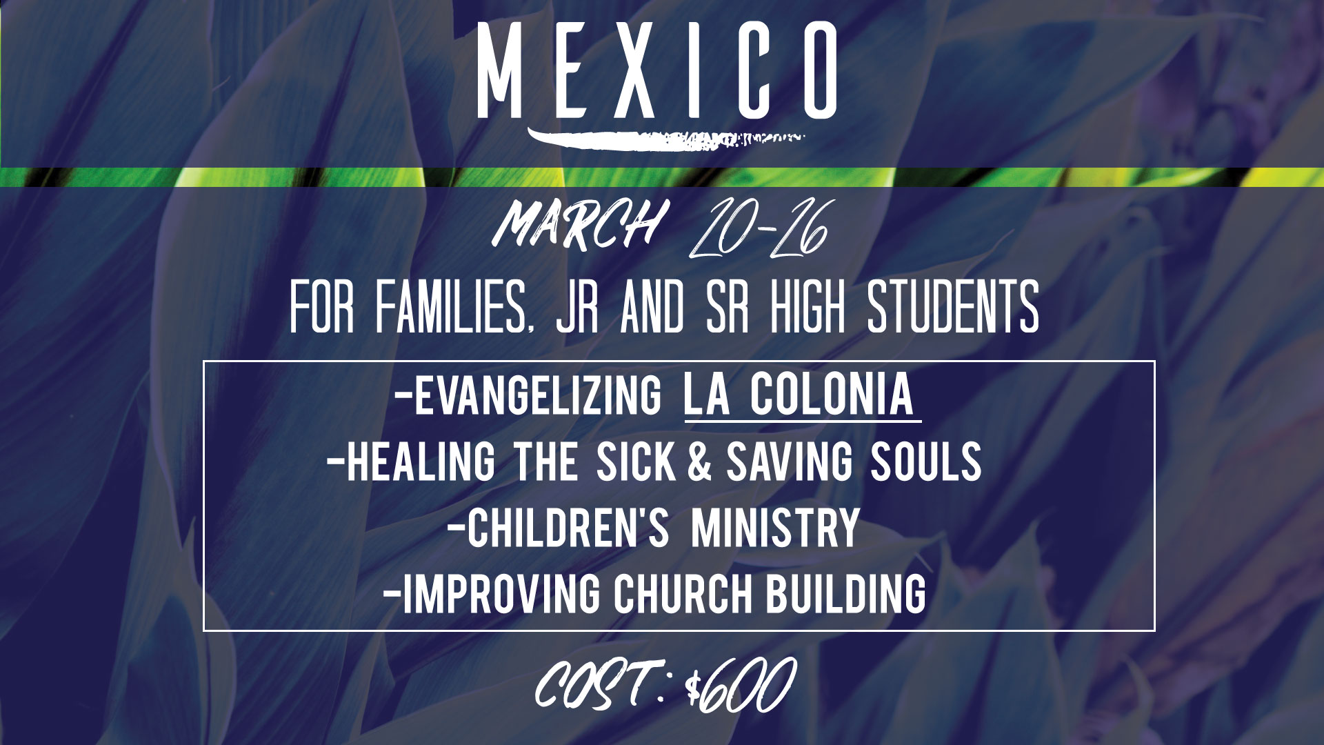 Mexico Missions Trip 2019