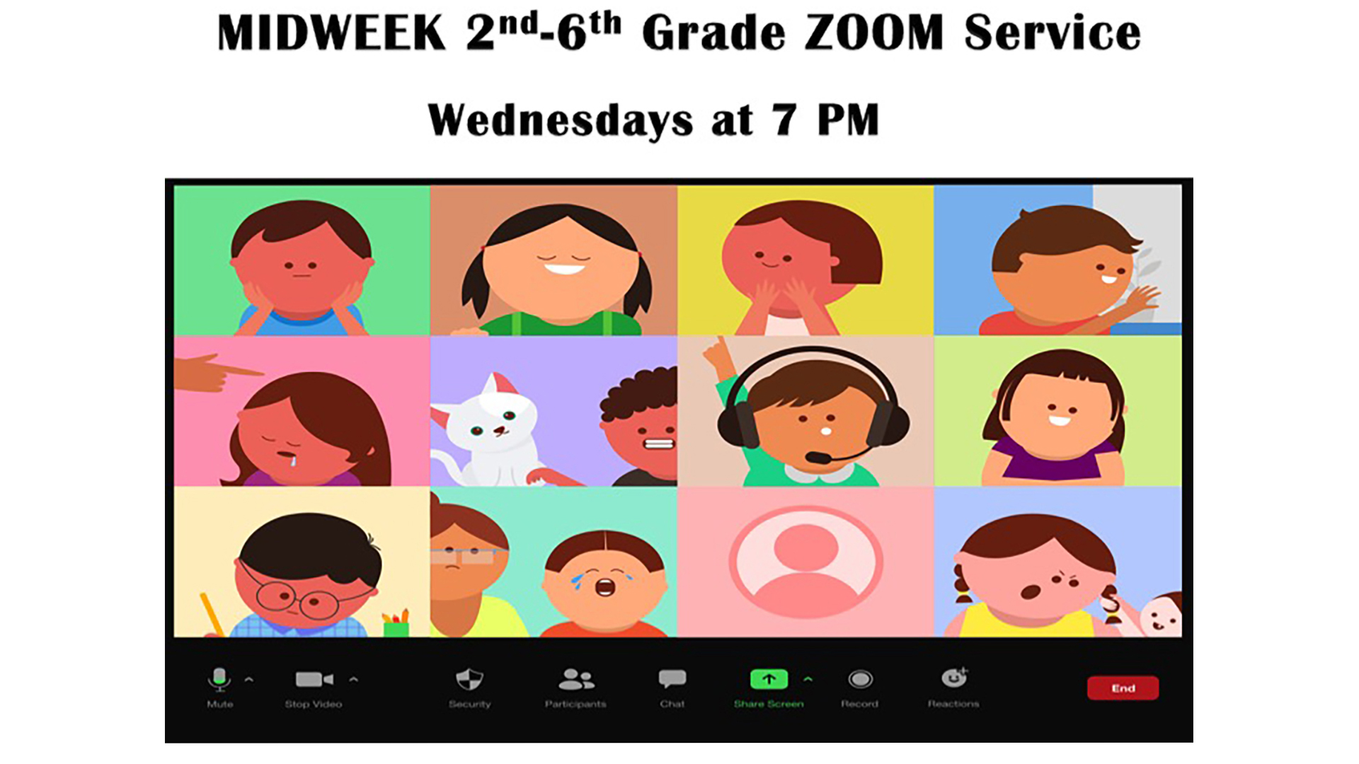 MIDWEEK 2nd-6th Grade ZOOM Service