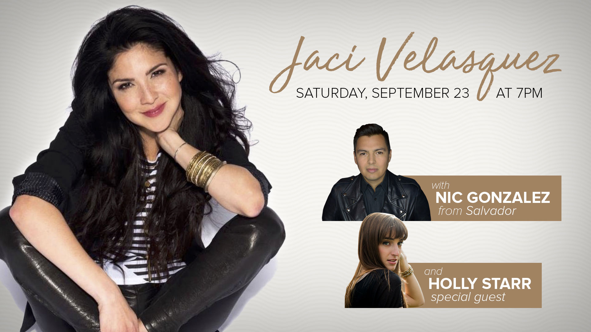 Jaci Velasquez and Nic Gonzales plus Holly Starr