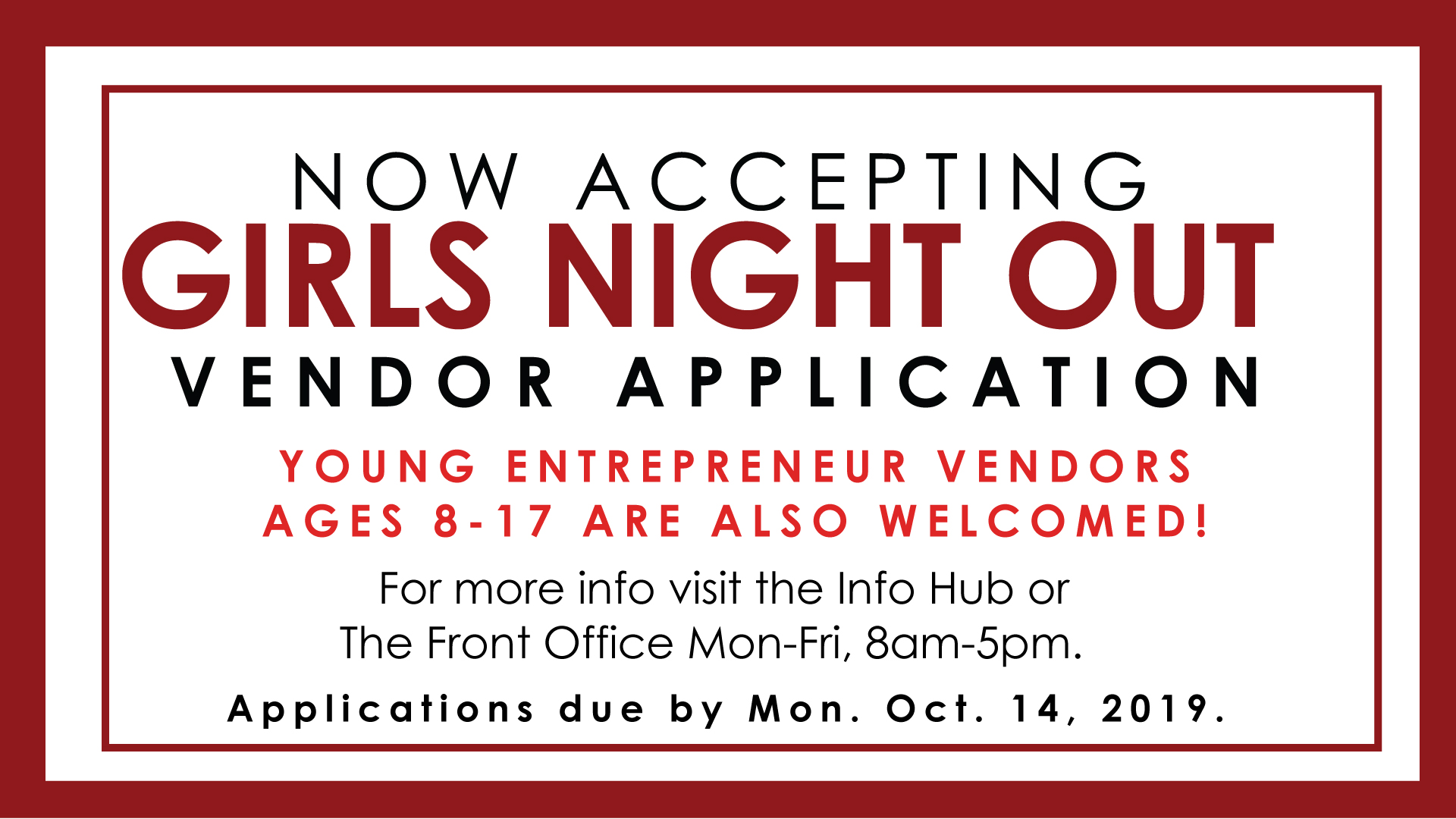 Now Accepting GNO Vendor Applications
