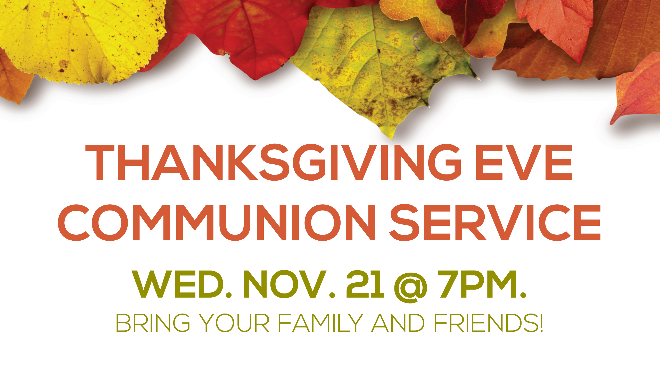 Thankgiving Communion Service