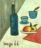 Still Life - F N Souza - Auction 2000 (November)