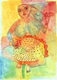 Lady on Lotus - Arpita  Singh - Auction 2001 (December)
