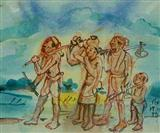 Villagers - Binode Behari Mukherjee - Auction 2001 (December)