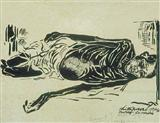 Bengal Famine - Chittaprosad  Bhattacharya - Auction 2001 (December)