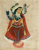 Hindu Deity - Kalighat  School - Auction 2001 (December)