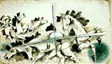 Wild Horses - M F Husain - Auction 2001 (December)