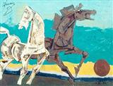 Untitled - M F Husain - Auction 2001 (December)