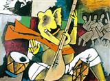 Untitled - M F Husain - Auction 2002 (December)