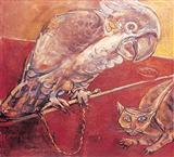 The Cockatoo and the Cat - Paritosh  Sen - Auction 2002 (May)