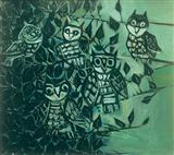 Owls on a Peepul Tree - Paritosh  Sen - Auction 2002 (May)
