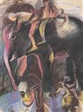 Human Figures - 2 - Bhupen  Khakhar - Auction 2003 (December)