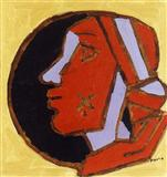 Woman`s Head - M F Husain - Auction 2003 (December)