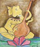 Ganesha - M F Husain - Auction 2003 (December)