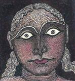 Face of a girl - Jogen  Chowdhury - Auction 2003 (May)