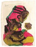 Tahiti - M F Husain - Auction 2003 (May)
