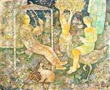 A Quiet Afternoon - Sakti  Burman - Auction 2004 (May)
