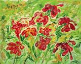 Hibiscuses - F N Souza - Auction 2004 (May)